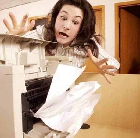 máy in bị kẹt giấy liên tục